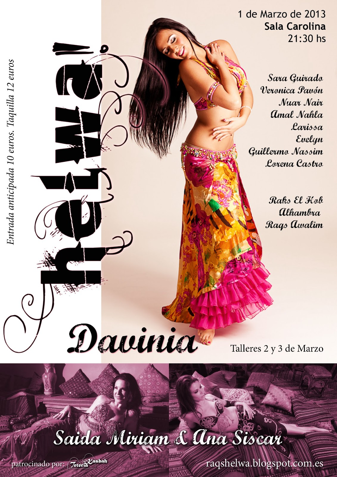 Festival danza oriental Helwa con Davinia Iñesta en Valencia