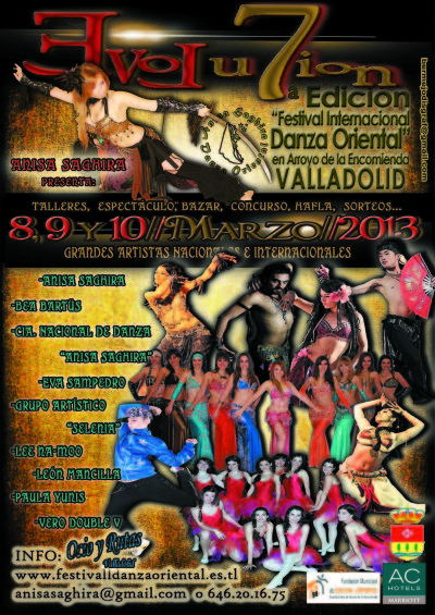 """7ª Edición del """"Festival Internacional de  Danza Oriental en Valladolid"""""""
