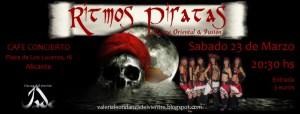 Espectáculo de Danza Oriental y Fusión  El próximo Sábado 23 de Marzo ( Alicante )