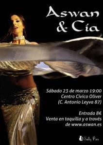 Aswan Festival danza oriental 23 marzo en Zaragoza