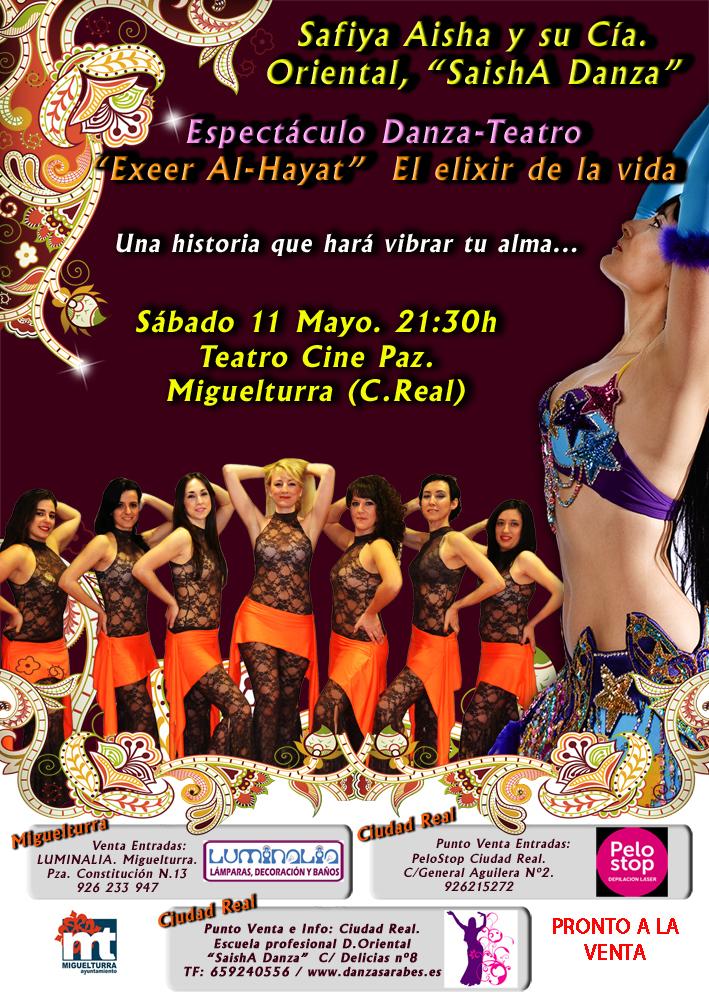 Espectáculo Danza-Teatro Exeer Al-Hayat, 11 Mayo 2013 (Ciudad Real)