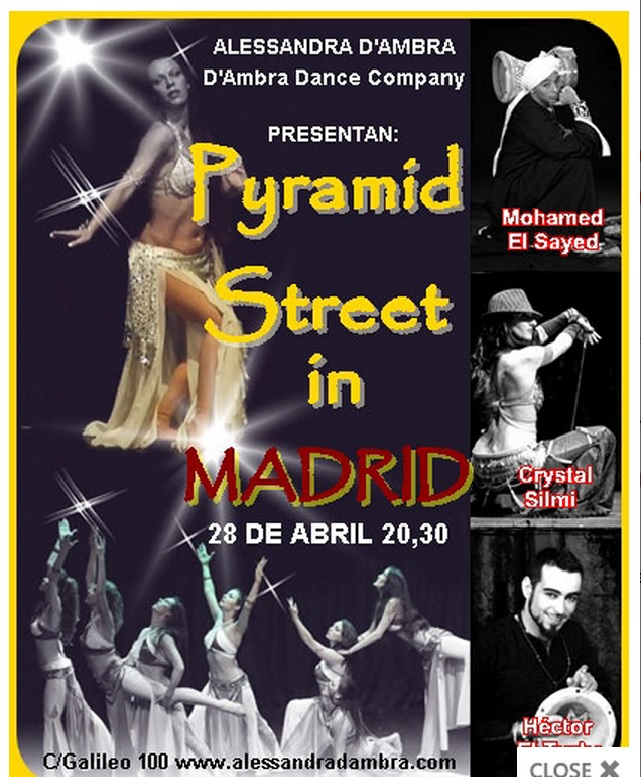 "Festival danza oriental ""Pyramid Street in MADRID"" 28 abril 2013"