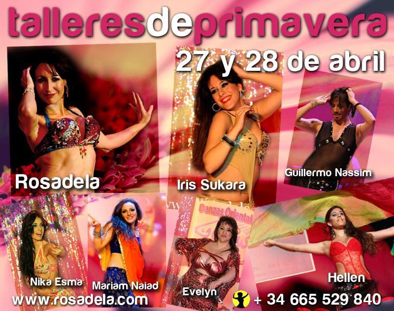 Talleres Intensivos Danza Oriental en Primavera, Rosadela 27 y 28 Abril 2013