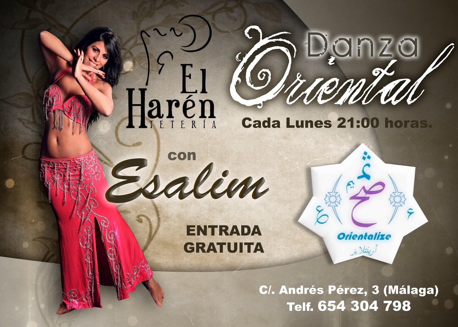 Teteria El Harén Actuación danza oriental cada Lunes a las 21 horas con Esalim (Málaga)