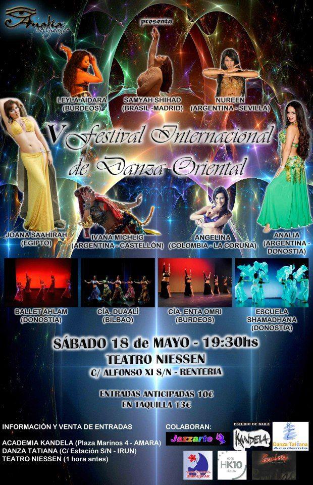 V Festival Internacional de Danza Oriental 18 Mayo  San Sebastian