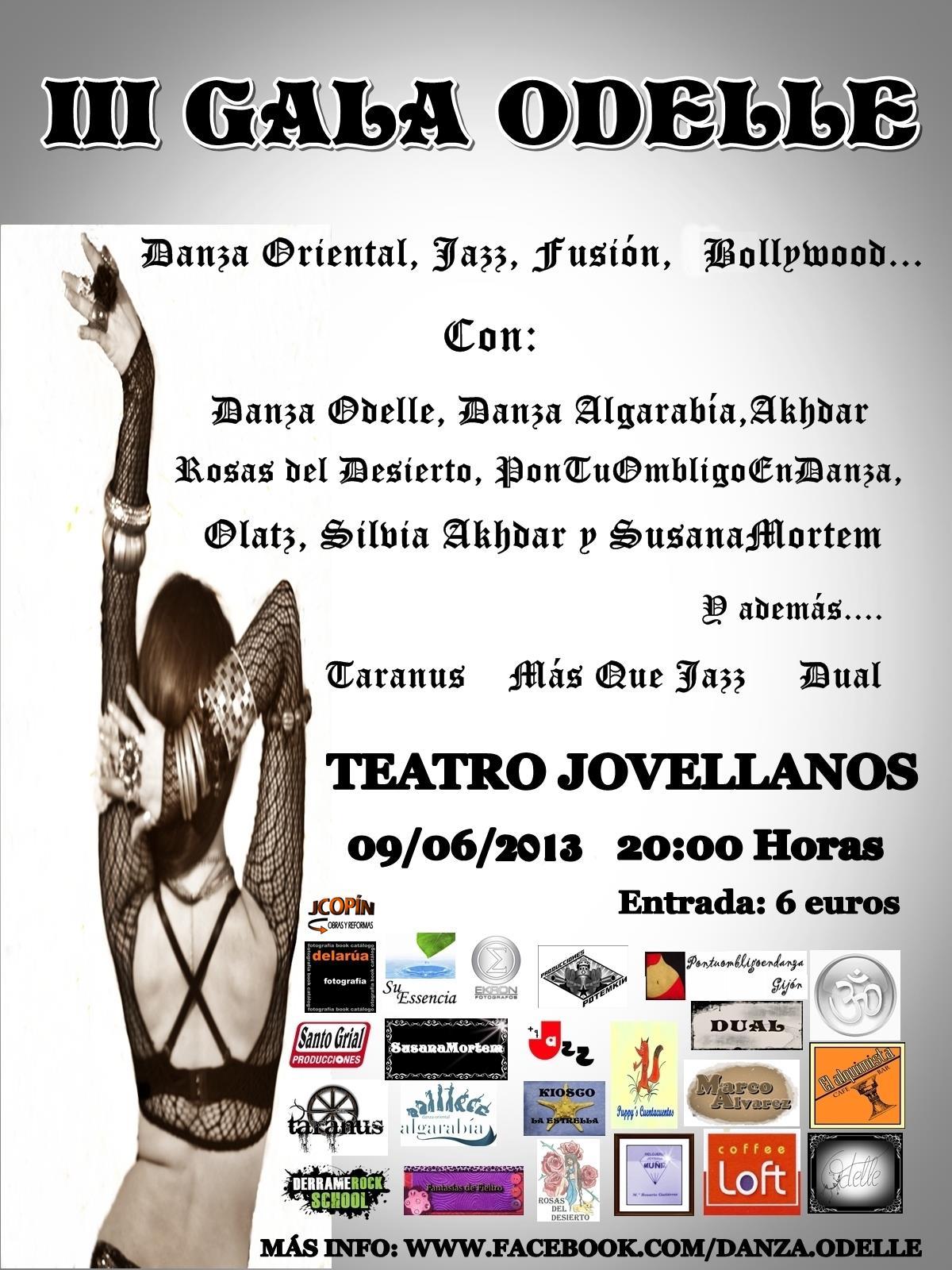 III Gala Odelle Danza Oriental el 9 Junio de 2013 en Gijón