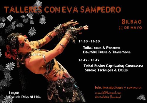 Talleres con Eva Sampedro, Tribal Orchids Project mayo, junio y julio 2013  en Zaragoza y Talleres en Bilbao el 11 de mayo de 2013