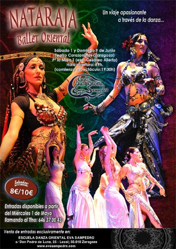 Festival Danza Tribal Eva Sampedro sábado 1 y domingo 9 de Junio de 2013 en Zaragoza