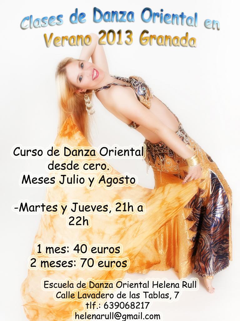 Curso de danza oriental en verano 2013, Escuela de Danza Helena Rull, ( Granada)