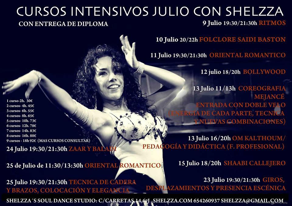 Cursos Intensivos de Danza Oriental con Shelzza (Madrid)