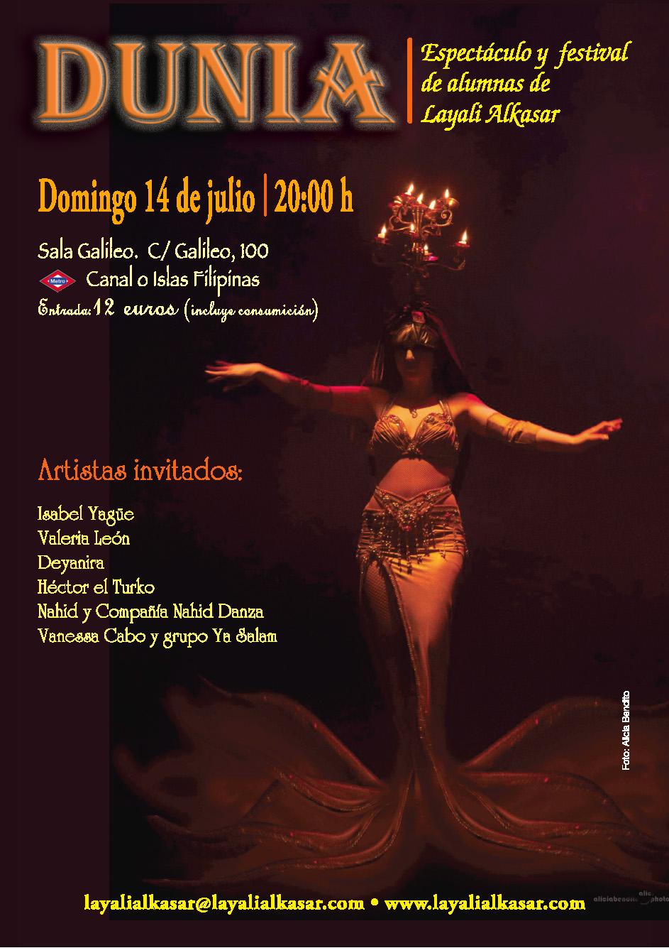 Festival y Espectáculo de Danza Oriental con alumnas de Layali Alkasar y Artistas Invitados.