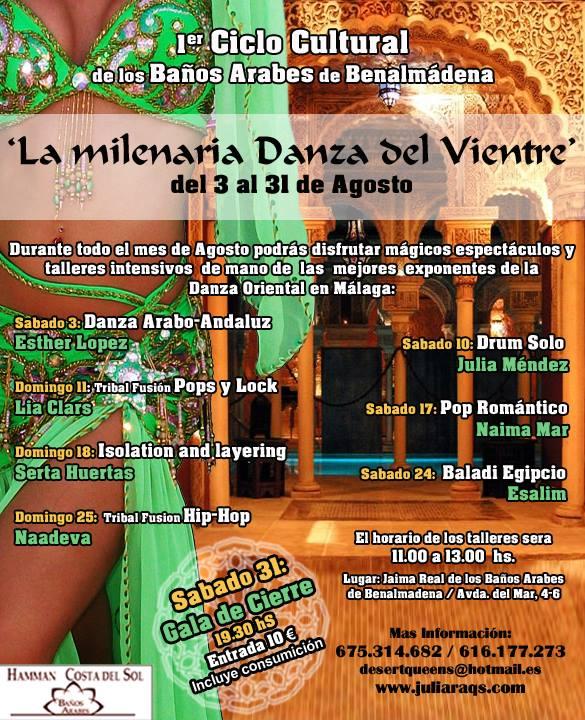 Baño Arabe En Benalmadena:La Milenaria Danza del Vientre Agosto de 2013 en Benalmádena (Málaga