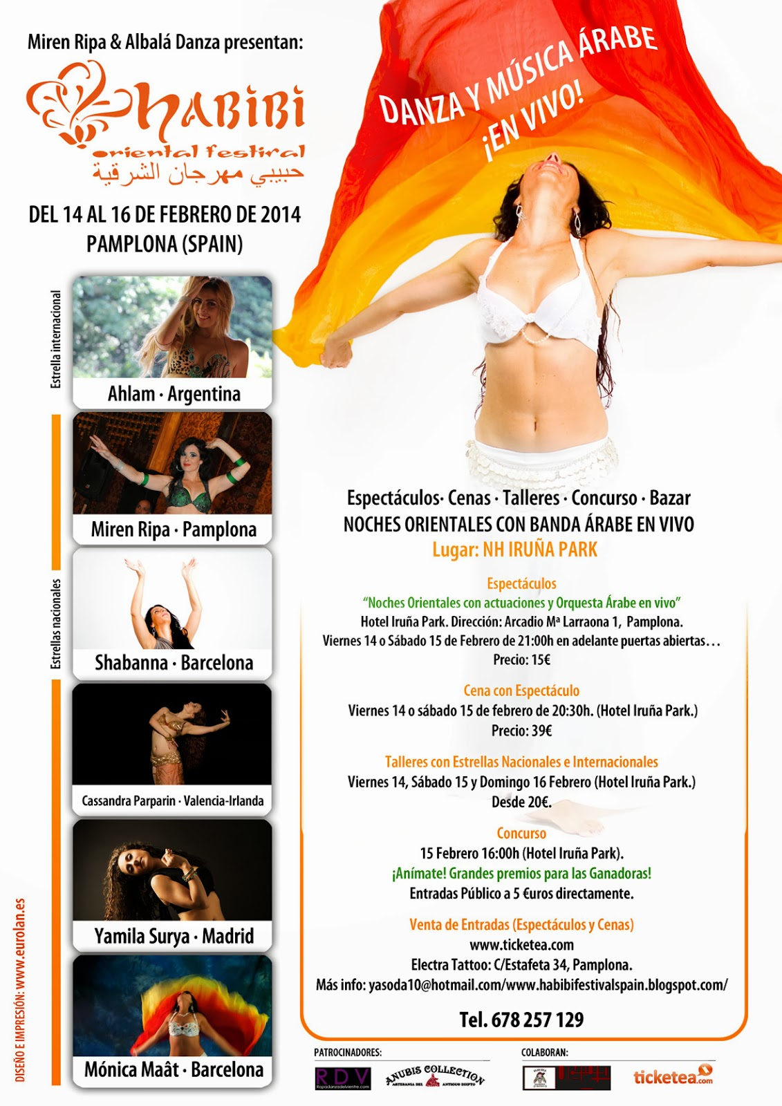 Concurso Habibi Oriental Festival con Miren Ripa & Albalá Danza en Panplona