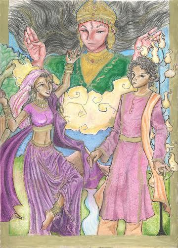 Ilustraciones Fusionando Danza Oriental y Tarot