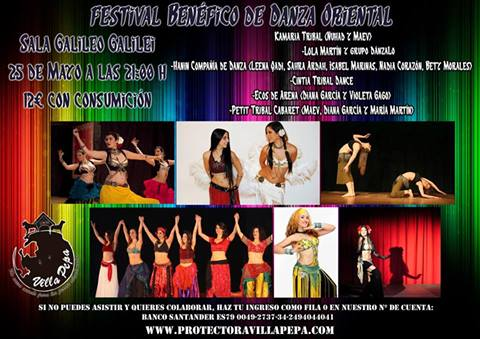 Festival Benéfico de Danza Oriental en Madrid
