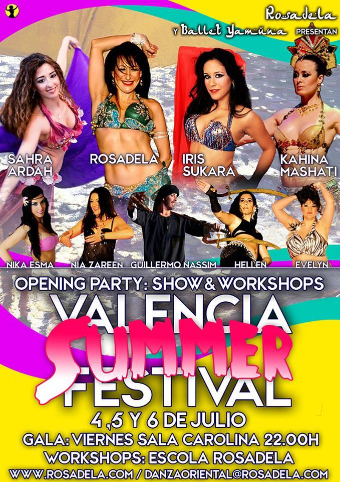 Valencia Summer Festival del 4 al 31 de Julio con Rosadela