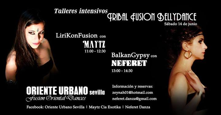 Taller danza Tribal LiriKonFusion con Maytz Cia Exotika en Sevilla