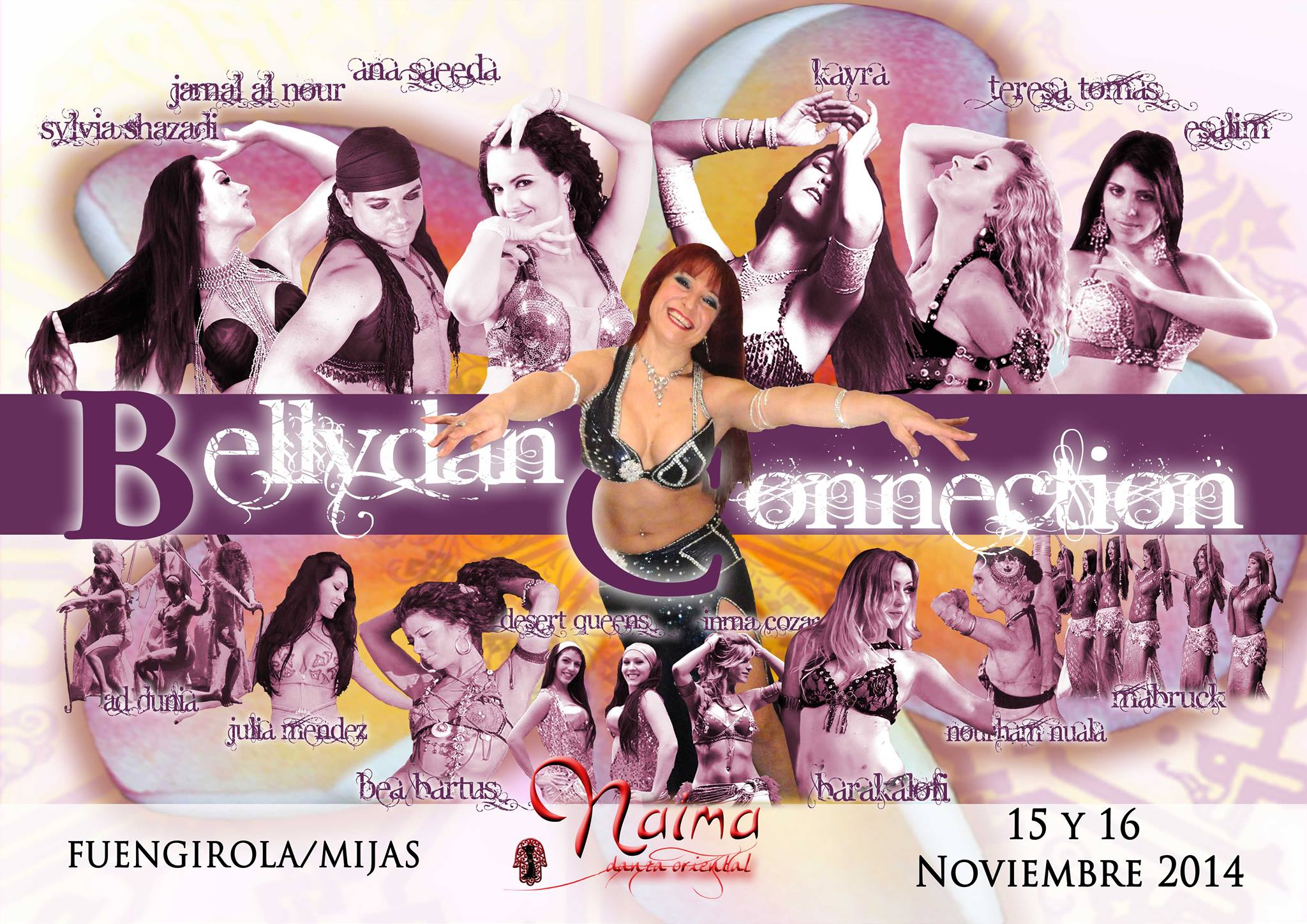 Bellydance Connection organizado por Naima Mar Danza Oriental en Málaga