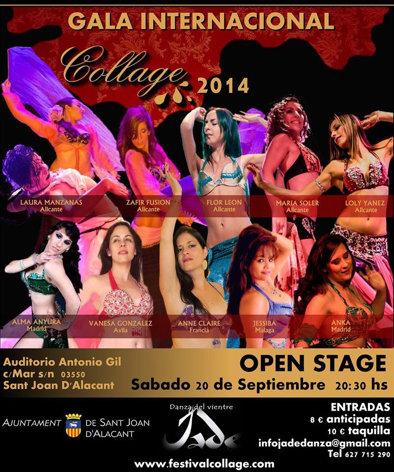 Festival danza oriental y fusión Collage 2014 en Alicante