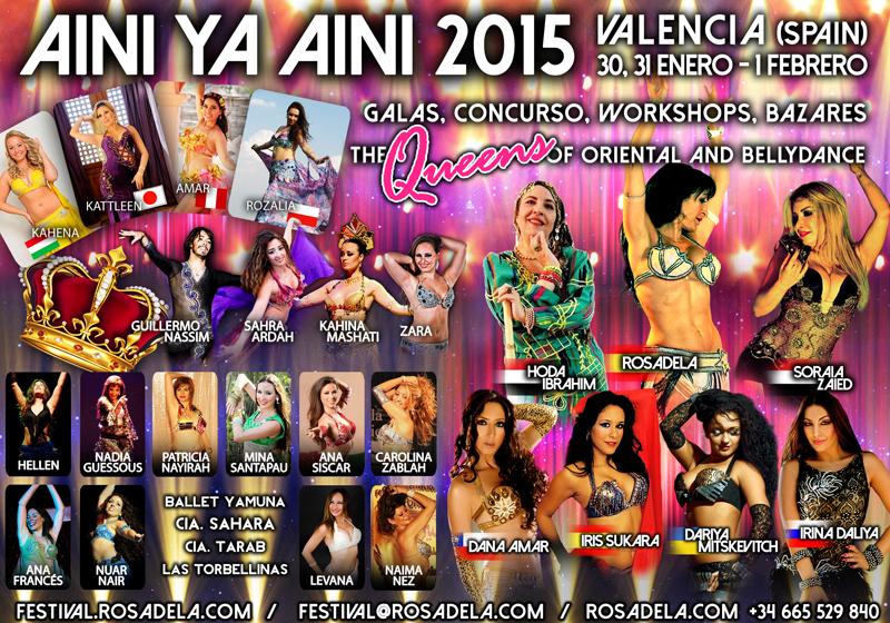 Festival Internacional de Danza Oriental 2015 Aini ya Aini con Rosaleda