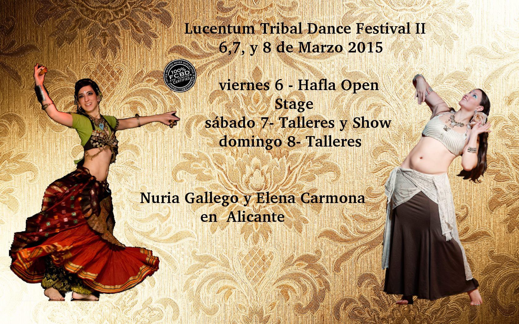 Lucentum Tribal Dance Festival II del 6 al 8 de Marzo de 2015 en Alicante