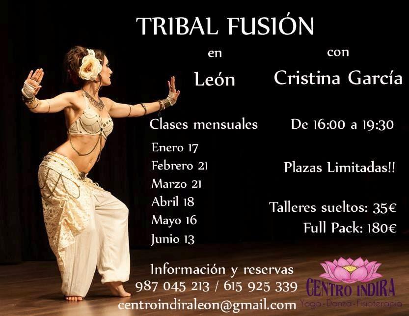 Talleres de Tribal fusión en León con Cristina García
