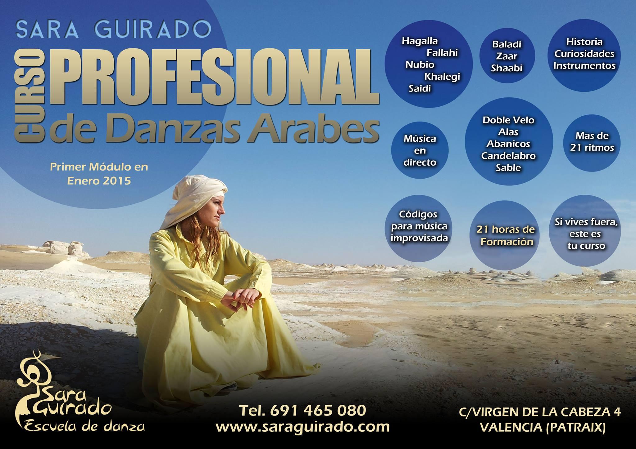 Curso Profesional de Danzas Árabes con Sara Guirado en Valencia