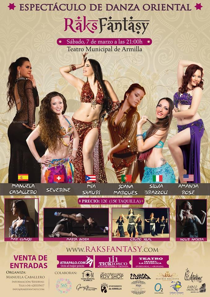 RAKS FANTASY Festival danza oriental del 6 al 8 de marzo de 2015 en Granada