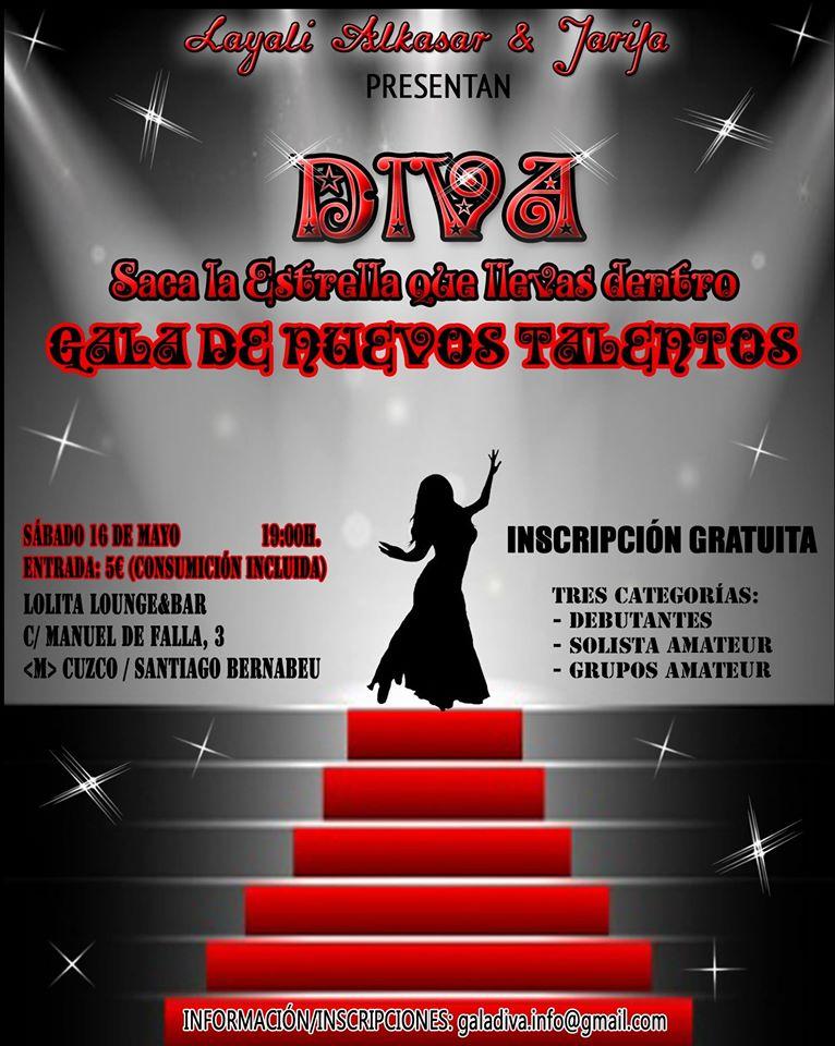 Gala Diva ( Gala de nuevos talentos)  16 de mayo de 2015 en Madrid