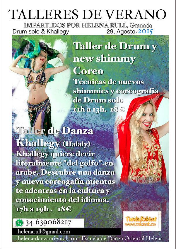 Talleres de Verano 29 Agosto 2015 con Helena Rull en Granada