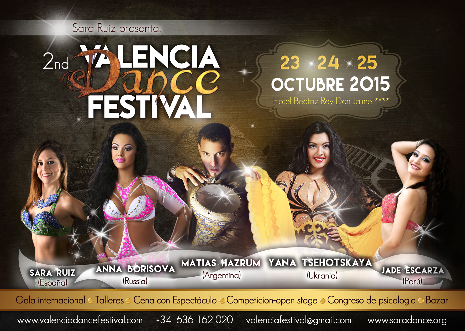 2º VALENCIA DANCE FESTIVAL 2015, 23,24, Y 25 DE OCTUBRE DE 2015 EN VALENCIA