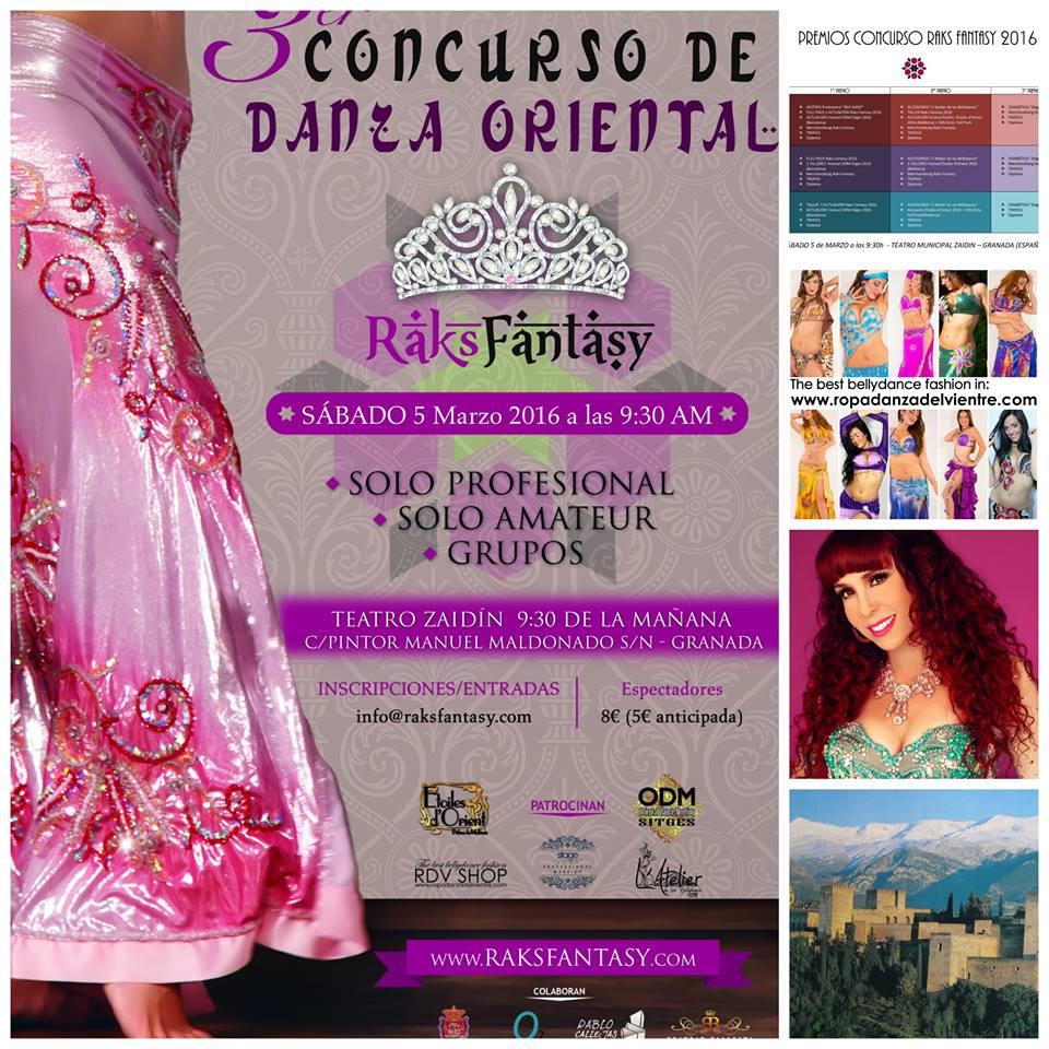 3ª Edición FESTIVAL DANZA ORIENTAL RAKSFANTASY días 5 y 6 de marzo de 2016 en Granada